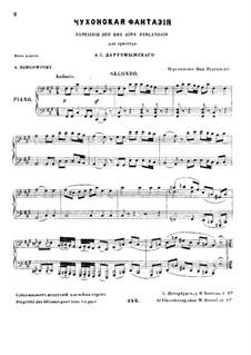 Fantaisie sur des airs finlandais: Für Klavier, vierhändig by Alexander Sergeyevich Dargomyschski