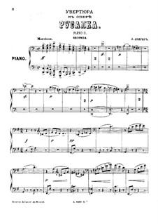 Mermaid: Overture, for Two Pianos Eight Hands – Piano II by Alexander Sergeyevich Dargomyschski