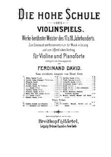 Sonate für Violine und Basso Continuo Nr.3, Op.9: Sarabande und Tambourin – Solo Stimme by Jean-Marie Leclair