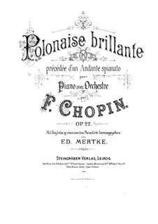 Andante spianato und Grosse brillante Polonäse, Op.22: Für zwei Klaviere, vierhändig by Frédéric Chopin