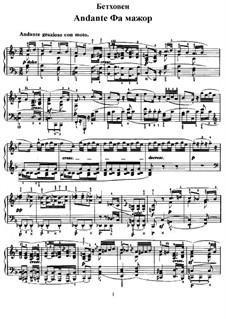 Andante Favori, WoO 57: Für Klavier by Ludwig van Beethoven