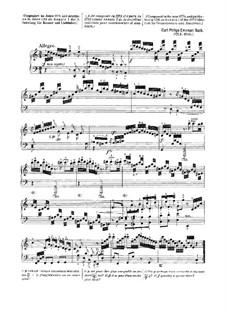 Sammlung III, Wq 57: Sonate Nr.1 in a-Moll by Carl Philipp Emanuel Bach
