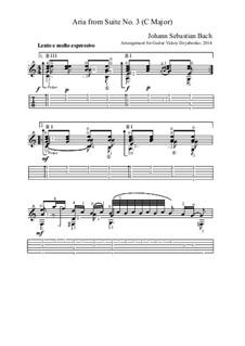 Arie: Version für Gitarre by Johann Sebastian Bach