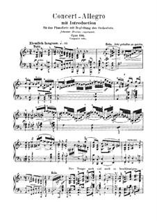 Konzert-Allegro mit Introduktion, Op.134: Solostimme by Robert Schumann