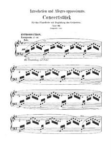 Introduktion und Allegro Appassionato, Op.92: Bearbeitung für Klavier by Robert Schumann