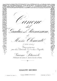Mugellini Ausgabe: Etüde Nr.33, für zwei Klarinetten und zwei Fagotte by Muzio Clementi