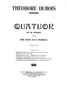 Klavierquartett in a-Moll: Teile I-II by Théodore Dubois
