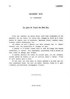 Antar: Akt II Szene I, für Stimmen und Klavier by Gabriel Dupont