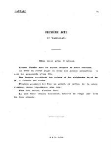 Antar: Akt II Szene II, für Stimmen und Klavier by Gabriel Dupont