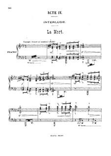 Antar: Akt IV, für Stimmen und Klavier by Gabriel Dupont