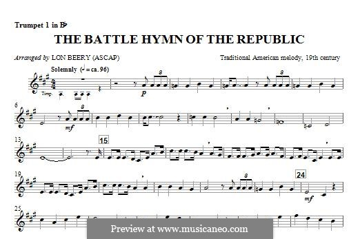 Battle Hymn of the Republic: For winds - Trumpet 1 part by William Steffe