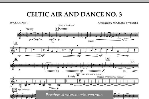 Celtic Air and Dance No.3: Bb Clarinet 1 part by folklore