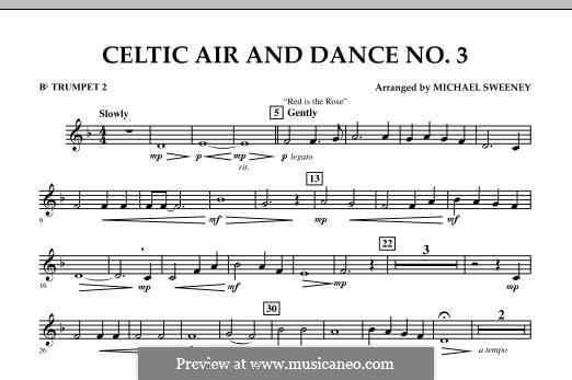 Celtic Air and Dance No.3: Bb Trumpet 2 part by folklore