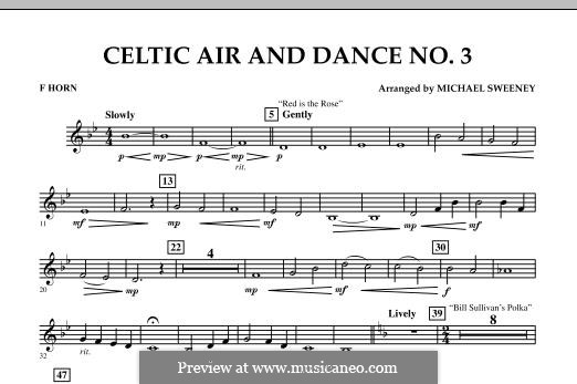 Celtic Air and Dance No.3: F Horn part by folklore