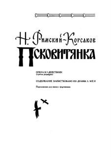 Das Mädchen von Pskow: Klavierauszug mit Singstimmen by Nikolai Rimsky-Korsakov