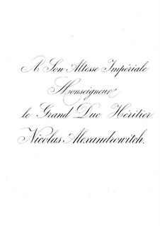 Suite Nr.2, Op.38: Für Klavier, vierhändig by César Cui