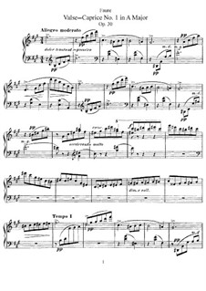 Vier Walzer-Capricen, Op. 30, 38, 59, 62: Vier Walzer-Capricen by Gabriel Fauré