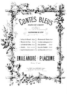 Contes bleus: Contes bleus by Paul Lacôme d'Estalenx