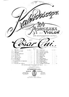Nr.8 Kantabile: Partitur by César Cui