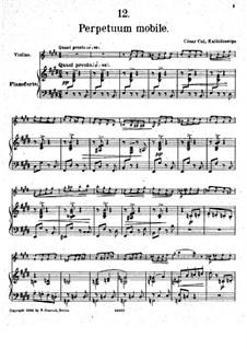 Nr.12 Perpetuum mobile: Partitur, Solostimme by César Cui