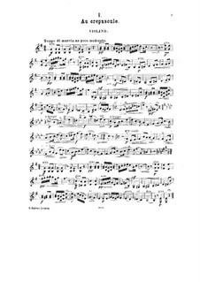 Kleine Suite für Violine und Klavier, Op.14: Solostimme by César Cui