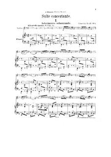 Konzertsuite für Violine und Orchester, Op.25: Version für Violine und Klavier by César Cui