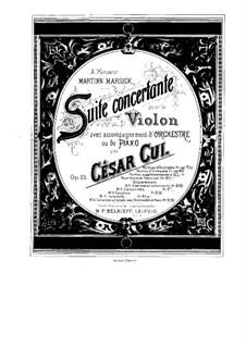 Konzertsuite für Violine und Orchester, Op.25: Solostimme by César Cui