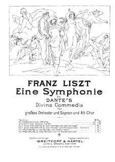 Eine Symphonie zu Dante's Divina Commedia, S.109: Für zwei Klaviere, achthändig – Stimmen für Klavier II by Franz Liszt