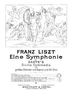 Eine Symphonie zu Dante's Divina Commedia, S.109: Für zwei Klaviere, achthändig – Stimmen für Klavier I by Franz Liszt