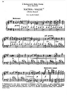 Sechs Stücke für Klavier, TH 143 Op.51: No.4 Natha-valse by Pjotr Tschaikowski