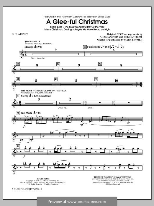 A Glee-ful Christmas (Choral Medley): Bb Clarinet part by James Lord Pierpont