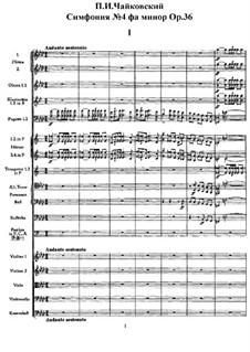 Sinfonie Nr.4 in f-Moll, TH 27 Op.36: Teil I by Pjotr Tschaikowski