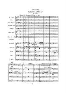 Suite Nr.2 in C-Dur, TH 32 Op.53: Nr.2 Walzer by Pjotr Tschaikowski