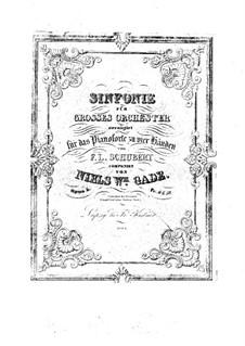 Sinfonie Nr.1 in c-moll, Op.5: Für Klavier, vierhändig by Niels Wilhelm Gade