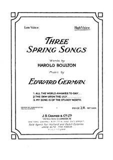 Three Spring Songs: Three Spring Songs by Edward German