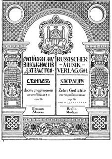 Zehn Gedichte für Stimme und Klavier, Op.26: Nr.2 Kanzone XXXII by Sergei Taneyev