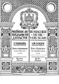 Zehn Gedichte für Stimme und Klavier, Op.26: Nr.5 Schlummerde Wälder by Sergei Taneyev
