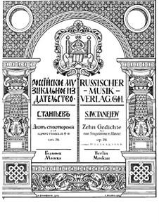 Zehn Gedichte für Stimme und Klavier, Op.26: Nr.6 Stalaktiten by Sergei Taneyev