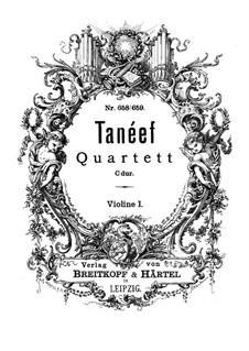 Streichquartett in C-Dur: Violinstimme I by Sergei Taneyev