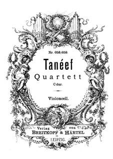 Streichquartett in C-Dur: Cellostimme by Sergei Taneyev