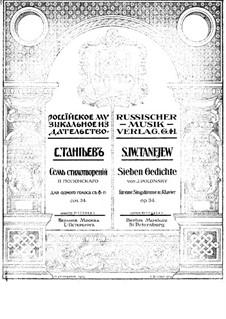Seven Romances, Op.34: Nr.3 by Sergei Taneyev