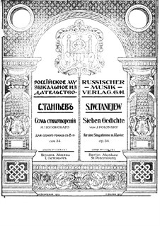 Seven Romances, Op.34: Nr.4 by Sergei Taneyev