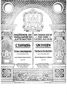 Seven Romances, Op.34: Nr.7 by Sergei Taneyev