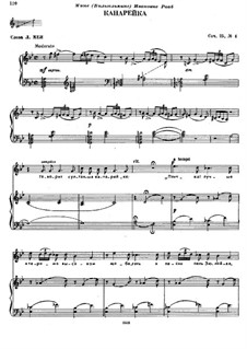Sechs Romanzen, TH 97 Op.25: Nr.4 Der Kanarienvogel by Pjotr Tschaikowski