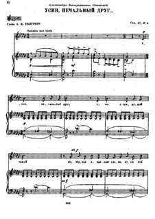 Sieben Romanzen, TH 103 Op.47: No.4 Sleep, Poor Friend by Pjotr Tschaikowski