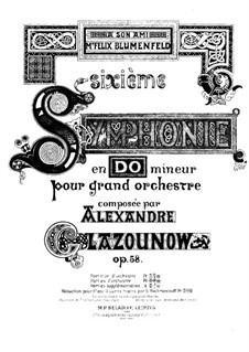 Sinfonie Nr.6 in c-Moll, Op.58: Teil I by Alexander Glazunov