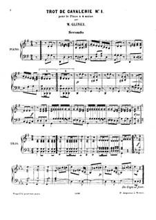 Sabre Dance: Für Klavier, vierhändig by Michail Glinka