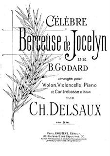 Wiegenlied: Für Violine, Cello, Klavier und Kontrabass (ad libitum) by Benjamin Godard