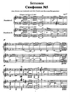 Vollständiger Sinfonie: Version für zwei Klaviere, vierhändig by Ludwig van Beethoven