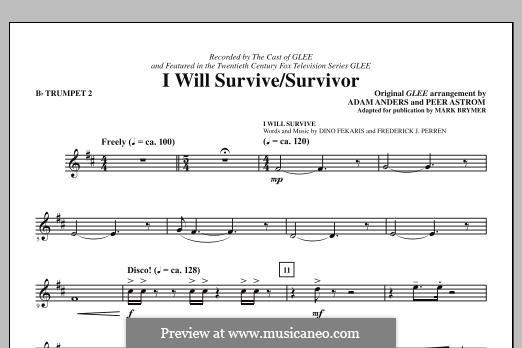 I Will Survive / Survivor (Glee Cast): Bb Trumpet 2 part by Adam Anders, Peer Åström
